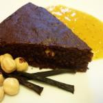 Ricette ghiotte per celiaci: Torta di cioccolato con crema di cachi – by Gabriella