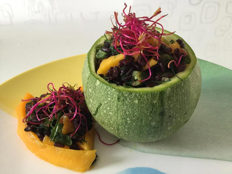 Ricette ghiotte per celiaci: insalata di riso venere  – by Gabriella
