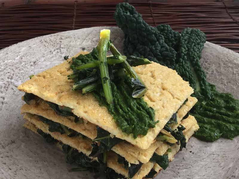 Ricette ghiotte per celiaci – Lasagnetta di Cavolfiore con Cavolo Nero by Gabriella