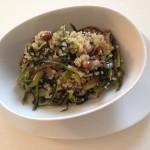 Ricette ghiotte per celiaci: quinoa con puntarelle e olive taggiasche – by Gabriella