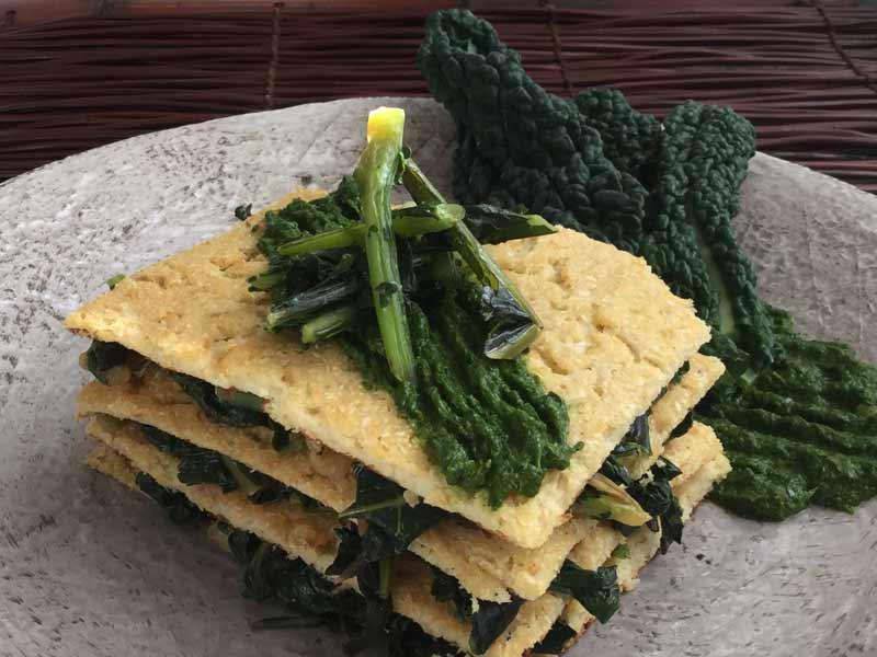 Ricette ghiotte per celiaci - Lasagnetta di Cavolfiore con Cavolo Nero by Gabriella