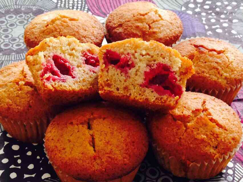 muffin ai lamponi senza zucchero